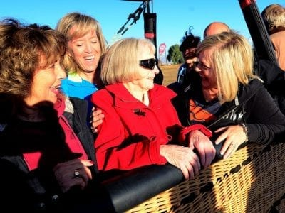 101 year old takes balloon flight