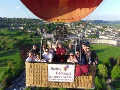 Balloon Flight Over Bath