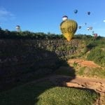 Balloon flight over quarry 2017