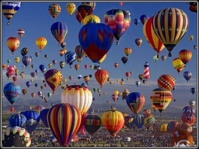 Albuquerque Balloon Festival - photo credit pinterest.com