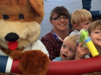 Bailey bear at Bristol International Balloon Fiesta