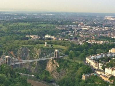 Hot Air Balloon Flight Over Bristol Suspension Bridge