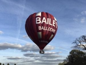 Bailey Balloons in the sky