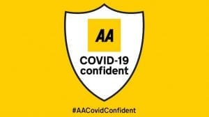 aa covid confident badge