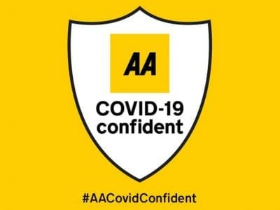 aa covid confident badge